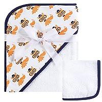 Hudson Baby 针织连帽浴巾和毛巾套装 Nerdy Fox 均码