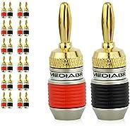 Mediabridge Banana Plugs - Corrosion-Resistant 24K Gold-Plated Connectors - 12 Pair/24 Banana Plugs (Part# SPC
