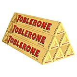 Toblerone瑞士三角 瑞士进口巧克力 黑巧克力 白巧克力 牛奶巧克力 口味组合规格可选 (牛奶100g*6)