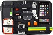 COCOON GRID-IT 创意收纳板 iPhone/U盘数据线钥匙旅行数码配件便携整理收纳 环保织物中号 黑色