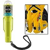 ACR C-Strobe H2O,LED 救生衣紧急信号,带夹子,魔术贴带,水活,USCG,SOLAS。 Needs AA Batteries Card 自动 黑色