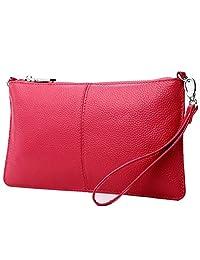 Lecxci 女式皮革斜挎包手提包手机钱包带卡槽