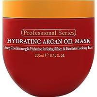 Arvazallia 保濕摩洛哥堅果油發面膜和深層護發素,用于干發或殘損發質 - 8.45 盎司