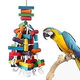 KINTOR 26.5 英寸超大鹦鹉咀嚼玩具鸟笼重型咬钩玩具适用于大型中型非洲灰金刚鹦鹉 Cockatoos Eclectus Amazon