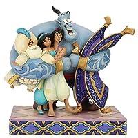 Enesco Disney Traditions by Jim Shore Aladdin Group 擁抱雕像