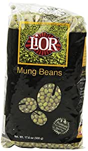 Lior All Natural Mung Beans, 17.6 Ounce (Pack of 12)
