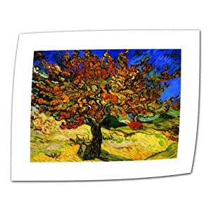 """ArtWall """"Mulberry Tree"""" Flat Unwrapped Canvas Art by Vincent Van Gogh, 22 by 28-Inch, Holds 18 by 24-Inch Image"""