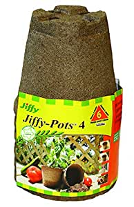 "Jiffy Pots 4"" Round 6 pack"