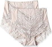 (厚木)ATSUGI 內褲 3D COVER (3D COVER) 收腹 高腰 背面蕾絲 〈2條裝〉