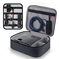 视频投影仪盒 TYCKA 防护投影机收纳袋防震投影仪手提箱带 DIY 分隔 2 件装配件存储袋适用于投影仪设备(30.2 x 9.5 x 3.5 英寸)