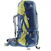 deuter 多特 aircontact系列 男式 专业登山徒步透气背包 3320316/3221 黄色/蓝色 65L