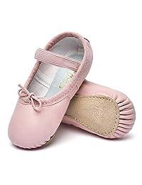 STELLE 女孩优质皮革芭蕾鞋儿童拖鞋