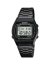 CASIO 系列中性款数码手表,不锈钢手镯–b640wc
