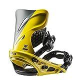 Flux Bindings Dsw 男式滑雪板绑定 2017/18 型号,黄色,中号