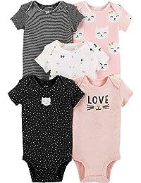 Carter's 女婴 5 件装。 Kitty Love 连体衣