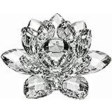 Amlong 水晶莲花图案礼盒,12.7cm,透明