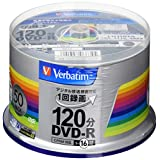 三菱化学媒体 Verbatim DVD-R(CPRM) 银 50枚