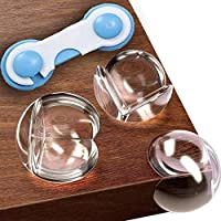 儿童透明护角 -20 个装 + 免费礼物 - 儿童*尖角保护膜 - 婴儿防护桌角保护装置 - 婴儿*粘合边缘保险杠 - 玻璃家具儿童防护装置