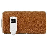 北极人单人电热毯可定时可调温方便安全电褥子 (棕色, 1.6x1.0米)