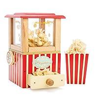 Le Toy Van - 木制蜂蜜烘焙复古爆米花机角色扮演儿童玩具 | 影院、厨房或电影假扮游戏