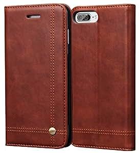 Apple Iphone 6/6S(4.7 英寸)[4.7 英寸屏幕] 新款通用优雅豪华 PU 皮革钱包式翻盖手机壳 Brown Card