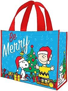 "Vandor 大 recycled shopper 手提袋 Peanuts Be Merry 16 x 6 x 12"""