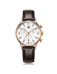 DUFA 德国品牌 密斯计时系列 石英男士手表 DF-9002-05(亚马逊自营商品, 由供应商配送)