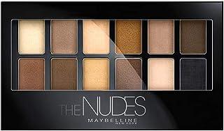 Maybelline 美宝莲纽约 The Nudes 12色眼影盘板,柔和感的灰褐色,沙色和古铜色,时尚的裸妆效果
