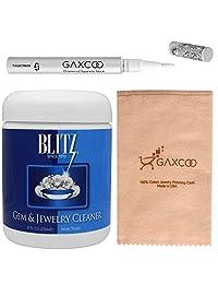 Gaxcoo Blitz 651 宝石和珠宝清洁剂带篮子和刷子和专业抛光布和棒状珠宝清洁剂