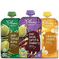 Plum Organics 二阶段有机婴儿食品,果蔬包,113克(18包)(新老包装,随机发货)
