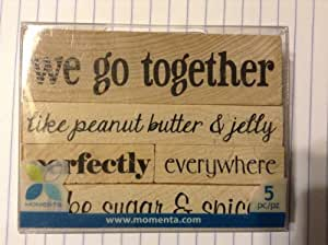 We Go Together 橡胶印章套装 19249 Momenta Wood 5 件套