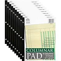 Norcom Columar Pad 4 排(10 个装),美国制造,27.94 x 21.59 cm,50 张 (76704),JustWritin' 出品