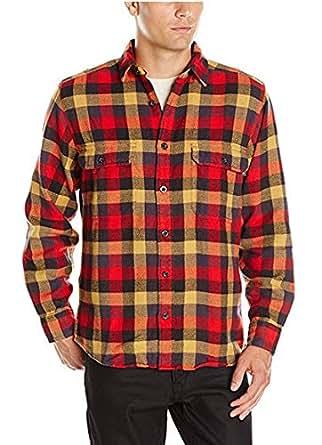 woolrich男长袖衬衫纯棉红色格子休闲B8098T Multi Buffalo XL