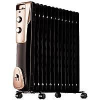 Midea 美的 电暖器NY2011-16JW油汀电暖器家用电暖气11片 黑色(亚马逊自营商品, 由供应商配送)
