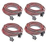 4 件/包 2M 6.56 英尺 3 针 JST SM 公头母插头 LED 连接器电缆适用于 WS2812B WS2811 SK6812 交响灯 带连接器,SM3P 无扣焊接插头灯控制器线