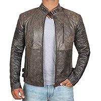 男式裝扮夾克 - Real Biker 仿舊皮夾克 男式