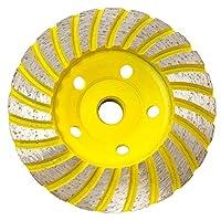 Stadea CWD101H 10.16cm 钻石杯轮 - 涡轮 - 系列标准 C - 1.59cm 11 T - 黄色