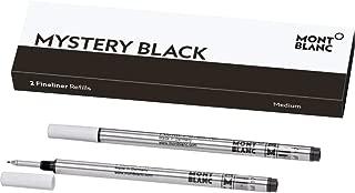 MONTBLANC 簽字筆 refills (M) 神秘黑色110149?/ PEN refills 適用于簽字筆和藍色 pens 來自 Montblanc / 2?X M 尖圓珠筆筆芯
