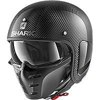 鲨鱼摩托车头盔 S-DRAK CARBON SKIN DSK S 黑色 3104_29295