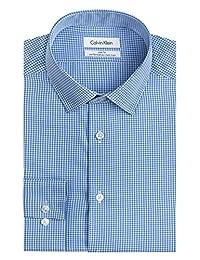 Calvin Klein 男式修身免烫格子衬衫