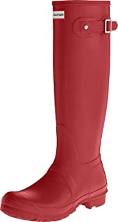 Hunter Women's Original Tall Wellington Boot Mid-Calf Boots Red (Military Red) 4 UK