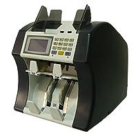 RB Tech Shark-100N 双口袋货币计数器,区分器,LCD 显示屏带 UV MG 红外假冒检测器价值混合货币计数器,区分器