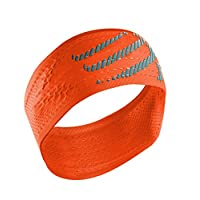 Compressport 中性 开关头带发带吸汗头巾健身网篮球装备跑步发带止汗带宽版
