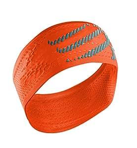 Compressport 中性 开关头带发带吸汗头巾健身网篮球装备跑步发带止汗带宽版 CS-HB2111 亮橙 均码