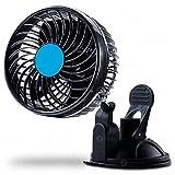 Zone Tech 4.5 英寸 12 伏超速汽车风扇 - 优质调节吸盘自动强大安静无忧速度变化可旋转 12V 汽车风扇 冷却空气风扇