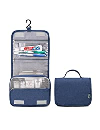 HGDGears 旅行化妆包带悬挂挂钩,便携式旅行化妆包,个人用品化妆包,大容量 One_Size