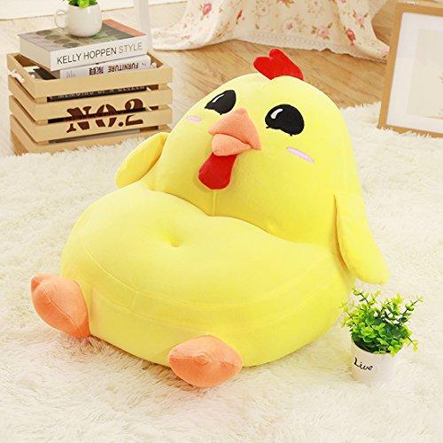 爱萌兔 新款可爱小熊沙发宝宝座椅靠椅宠物儿童玩具公仔小鸡-黄色