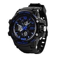 Skmei Analogue-Digital Blue Dial Men's Sports Watch -990BLU