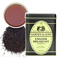 Harney & Sons 英式早餐紅茶,8盎司(約227g)罐裝散茶