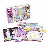 Plus-Plus BIG - BIG 图画拼图,彩色混合 - 建筑建设杆玩具,互锁大型拼图块,适合幼儿和学龄前儿童